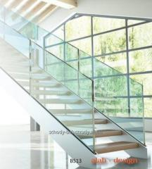 Different models of balustrades, railings made of