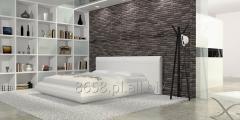 Łóżko Tapicerowane CUSCINO 180 x 200 cm Białe