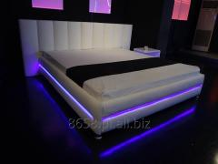 Łóżko Tapicerowane LAS VEGAS 180 x 200 cm - Białe
