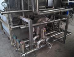 Systems of central cleaning systems of milk plants