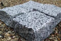Kostka łupana jasno-szara z granitu o wymiarach 10