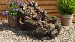Aesthetic decorative fountain in the garden,