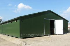 Fast-mounted buildings for the poultry industry