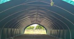 Hala namiotowa tunelowa, szerokość 8, 9, 10, 12 lub 15m.