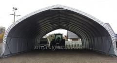 Agricultural storage tent hall for hay and