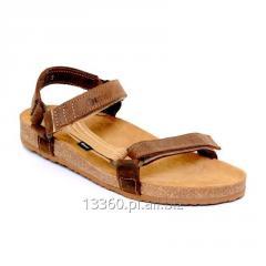 Sandały 405AP welur czarny