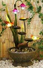Modern fountain FLOWERS, will give the environment