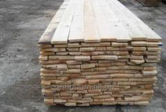 Boards from soft breeds of wood, dry pine boards.
