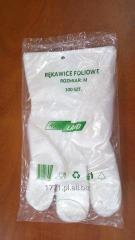 Rękawiczki foliowe HDPE jednorazowe