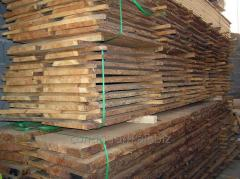 Timber, bar, boards from a seasoned wood of a