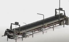 Tunnel pasteurizing plant