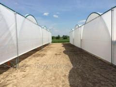 Film covering from polyethylene plastic tunnels