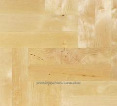 Parquet board from birch