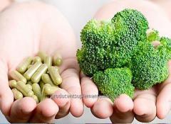 Suplementy dla wegetarian w przeźroczystych kapsułkach