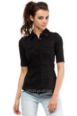 Klasyczna czarna koszula damska