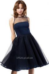 Granatowa sukienka wieczorowa o długości midi