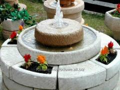 3in1 Extra fountain garden with flower beds and