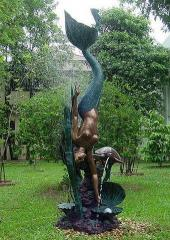"Bronze fountain ""Mermaid with a"