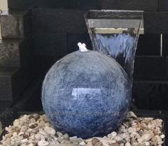 Beautiful ball, fountain made of stainless steel,