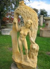 Rarity - Sculpture Naked Woman with a solid