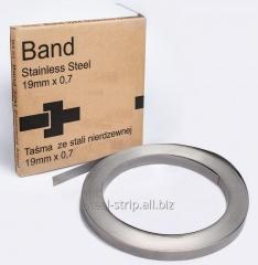 Stainless steel strips for mounting 0,70x12,7mm