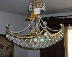 Crystal chandelier for large and stylish design,