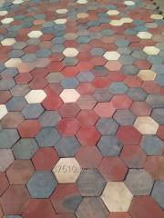 Płytka podłogowa -hexagonalna