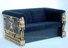Sofa w stylu egipskim do salonu