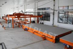Equipment for manufacturing of building material