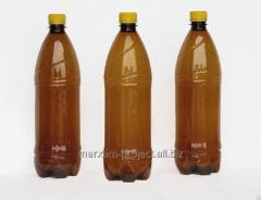 PET bottle for beer of 1 l, on the pallet of 972