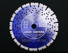 Tarcza diamentowa do cięcia na mokro i sucho wyposażona w specjalne segmenty dla szybszego cięciaDIEWE LASER CANTERO 115 mm