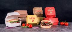 Paper package for hamburgers, packing for