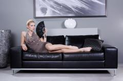 Designer sofa LEATHER CARRERA