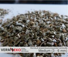 Wermikulit ekspandowany Frakcja Medium 3 - 6 mm