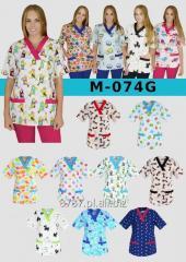 M-074G Bluza medyczna kolorowa wzorzysta