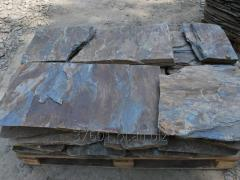 Materials of natural stone for construction