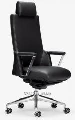 Ergonomiczny, luksusowy fotel gabinetowy XZ wykonany z perforowanej skóry.