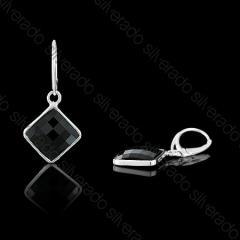 Kolczyki srebrne z kryształami Swarovski Jet 1-454