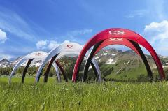 Light and functional tent Vento, does not require a fan or access to electricity.