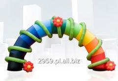 Brama pneumatyczna łukowa z możliwoscią umieszczenia elementów 3D