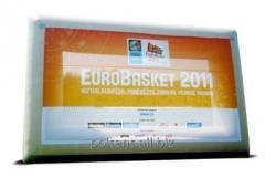 Ekrany reklamowe nadmuchiwane dwustronne z wymienną grafika mocowana na rzepy