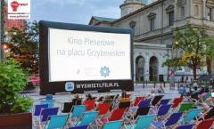 Ekran projekcyjny do eventów plenerowych, Trzy