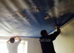 Stretch fabric ceilings