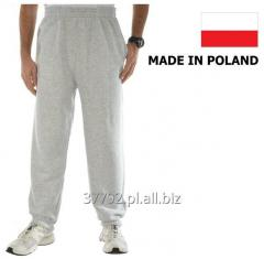 Sweatpants for men in colors: gray melange, black