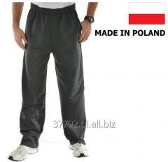 Spodnie dresowe męskie kolor szary melange, czarny