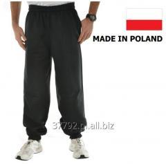 Sweatpants for men in colors: gray melange, black