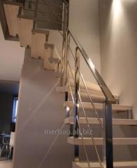 Nowoczesne schody drewniane, bukowe, model N3,