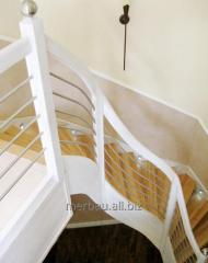 Nowoczesne schody drewniane, jesionowe, model N9,