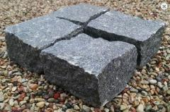 Paving from natural granite in various flowers