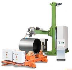 Słupowysięgnik spawalniczy KISTLER, manipulator kolumnowy seria RMB / TRMB do wykonywania spoin obwodowych i wzdłużnych elementów cylindrycznych.